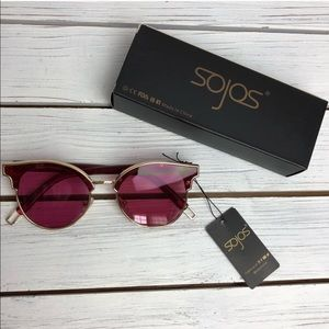 New In Box Sojos Red Tint Sunglasses